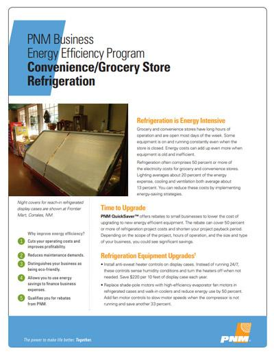 Convenience / Grocery Store Refrigeration Fact Sheet