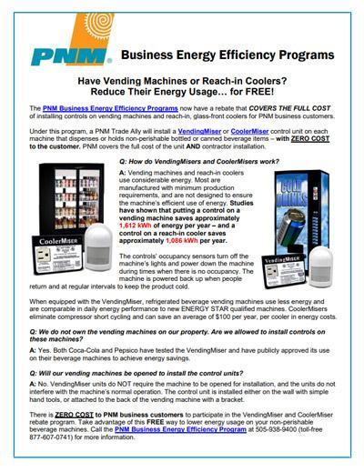 VendingMisers Fact Sheet